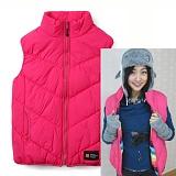 [언디핏]UNDEFEATED - Padding Vest (Pink) 패딩베스트 패딩조끼