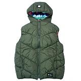 [언디핏]UNDEFEATED - Hood Padding Vest (Khaki) 패딩베스트 패딩조끼