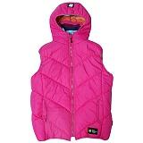 [언디핏]UNDEFEATED - Hood Padding Vest (Pink) 패딩베스트 패딩조끼