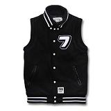 [크리틱] CRITIC - Varsity Wool Vest (Black) 울 베스트
