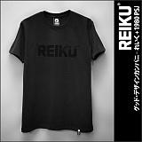 [레이쿠]REIKU - reiku black typo logo-short (black) 반팔티