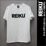 [레이쿠]REIKU - reiku black typo logo-short (white) 반팔티