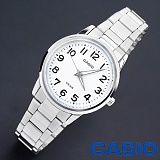 [카시오]CASIO - BASIC (Metal White) - 여성용_한국본사정품_본사A/S가능 인기 시계