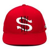 [스컬엔와이]SKULL NY BLACK LABEL SNY CITY CAP (RED) 라벨 시티 스냅백