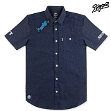 STIGMA - SHORT SLEEVE CHAMBRAY SHIRTS