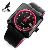 [캉골]KANGOL - 멀티손목시계 KG11009-RED 가죽밴드 시계