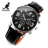 [캉골]KANGOL - 멀티손목시계 KG11018-BLACK 가죽밴드 시계