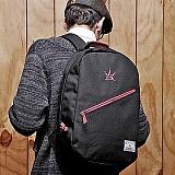 ��1���̺�Ʈ��[�θ�ƽũ���]ROMANTIC CROWN - CROWN DAY BAG (Black/Pink)