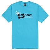 [������]STUSSY - SS STUSSY WORLDWIDE TEE (TURQUOISE/BLACK) ����Ƽ