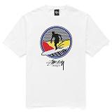 [������]STUSSY - SS POP SURFER TEE (WHITEBLACK) ����Ƽ