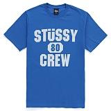 [������]STUSSY - SS 80 CREW TEE (BLUE/CREAM) ����Ƽ