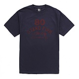 [������]STUSSY - SS 80 STAND FIRM TEE (NAVY/VINTAGE RED) ����Ƽ