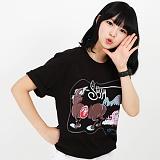 [������]STUSSY - SS CHAINSAW TEE (BLACK) ����Ƽ
