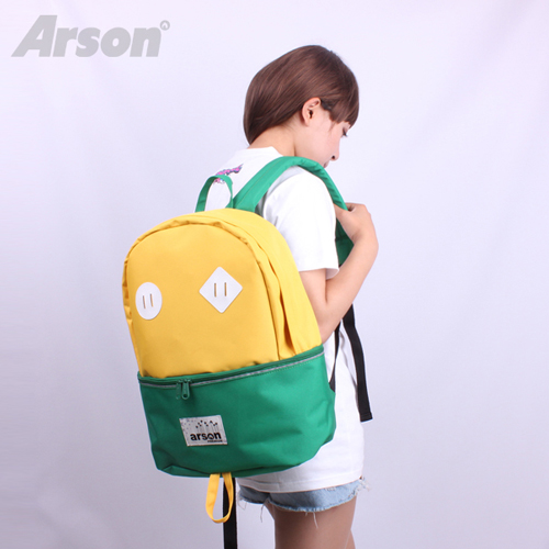 [알슨]ARSON - 2JIKO BAG AB-0936  (Yellow/Green) 백팩