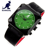 [캉골]KANGOL - 멀티손목시계 KG11011-GREEN 가죽밴드 시계