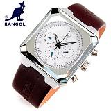 [캉골]KANGOL - 멀티손목시계 KG11011-SILVER 가죽밴드 시계