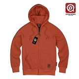 [큐몬스터]QMONSTER - QMPZ-04 PEACHSKIN HOODY ZIP-UP ORANGE 후드집업