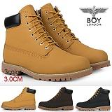[보이런던]BOYLONDON - 보이런던 팀버 B133 워커 신발-머스타드/남자_캐주얼_부츠_마틴