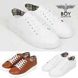 [보이런던]BoyLondon - S026 레조 스니커즈 신발(화이트)-남성용 캐주얼 신발 남자 컨버스 단화