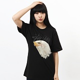 [������]STUSSY - EAGLE CREW TEE (BLACK) ����Ƽ