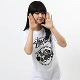 [������]STUSSY - SS TRIBAL SK8 TEE (WHITE/BLACK) ����Ƽ