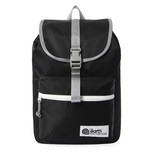 [디얼스]THE EARTH - NYLON 1-POCKET BACKPACK - BLACK 가방 백팩