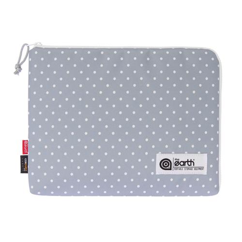 [디얼스]THE EARTH - DOT SLEEVE BAG-GREY 슬리브 클러치 손가방