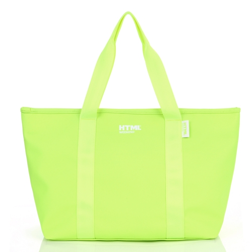 [에이치티엠엘]HTML - W5 tote bag (Neon Green) + Waterproof Pack S
