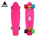 [드리퍼스] 22 DRIFERS RAINBOW CRUZER (핑크/레인보우)-22인치 완제품 보드 크루져보드 스케이트보드 스트릿 보딩