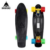 [드리퍼스] 22 DRIFERS RAINBOW CRUZER (블랙/레인보우)-22인치 완제품 보드 크루져보드 스케이트보드 스트릿 보딩