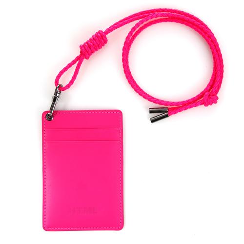 [에이치티엠엘] HTML - Leather Card holder (Neon Pink) 카드지갑
