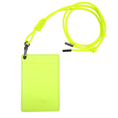 [에이치티엠엘] HTML - Leather Card holder (Neon Yellow) 카드지갑