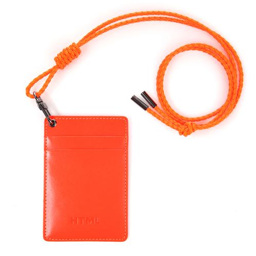 [에이치티엠엘] HTML - Leather Card holder (Neon Orange) 카드지갑