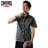 [크룩스앤캐슬] CROOKS&CASTLES 투포켓 체크-블랙