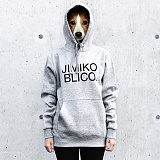 [지미코브리코]SJP - jimiko blico b-logo2-gray poket hood-K기모 후드티