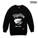 STIGMA - SKULL CREWNECK_BLACK