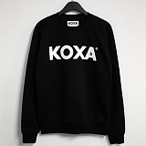 주문폭주★[코싸] koxa white logo-black mtm 맨투맨