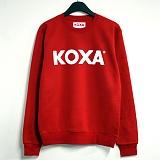 ★주문폭주★[코싸] koxa white logo-red mtm 맨투맨