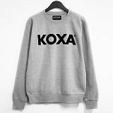 ★주문폭주★[코싸] koxa black logo-gray mtm 맨투맨
