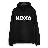 [코싸] koxa white logo-black hood 후드티