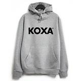 [코싸] koxa black logo-gray hood 후드티