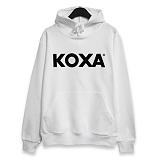 [코싸] koxa black logo-white hood 후드티