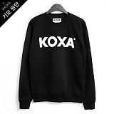 [코싸] koxa white logo-black mtm-K 기모 맨투맨