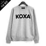 [코싸] koxa black logo-gray mtm-K 기모 맨투맨