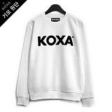 [코싸] koxa black logo-white mtm-K 기모 맨투맨
