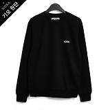 [코싸] koxa white s-logo-black mtm-K 기모 맨투맨