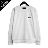 [코싸] koxa black s-logo-white mtm-K 기모 맨투맨