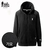 [로빈후드]ROBINHOOD - 기모 집업 후드티셔츠-블랙