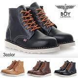 [보이런던]BoyLondon - B318 리얼하이 4CM 트레일 워커(블랙)-남성용/무료배송 캐주얼 남자 부츠 신발 레드윙
