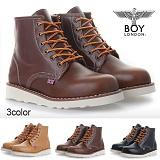 [보이런던]BoyLondon - B318 리얼하이 4CM 트레일 워커(브라운)-남성용/무료배송 캐주얼 남자 부츠 신발 레드윙